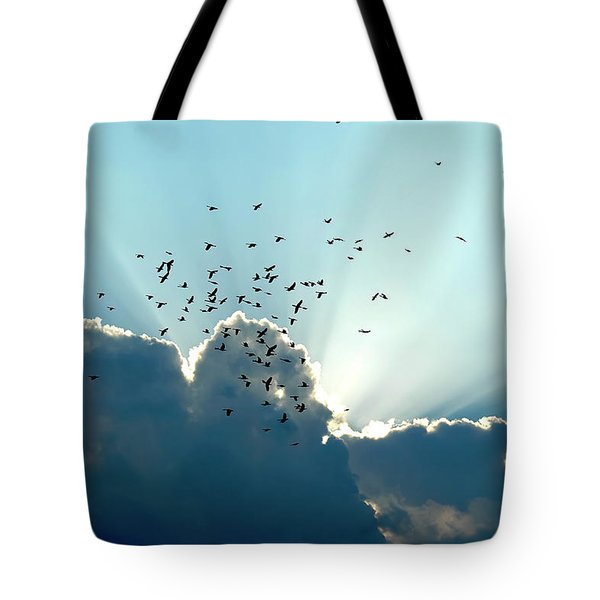 Sun Ray Aerobatics Blue Sky Tote Bag