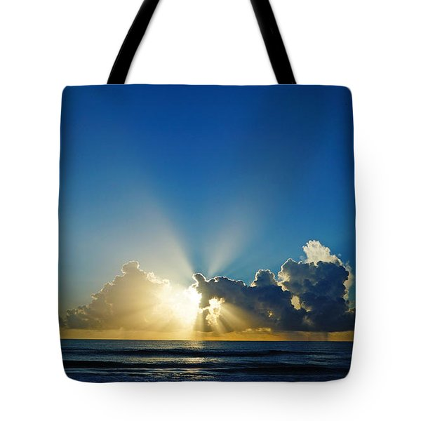 Sun Ray Sunrise Tote Bag