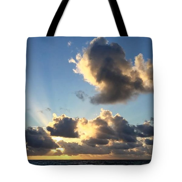 Sun Rays And The Cloud Tote Bag