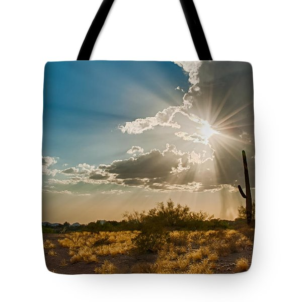 Tote Bag featuring the photograph Sun Rays In Tucson by Dan McManus