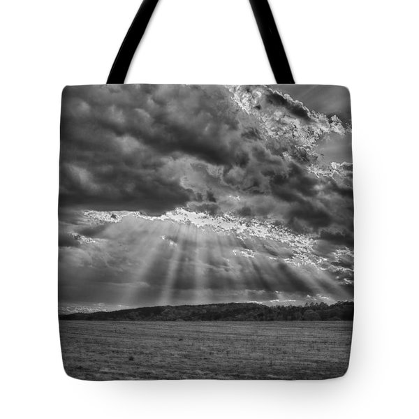 Sun Rays Over Vann's Valley Tote Bag