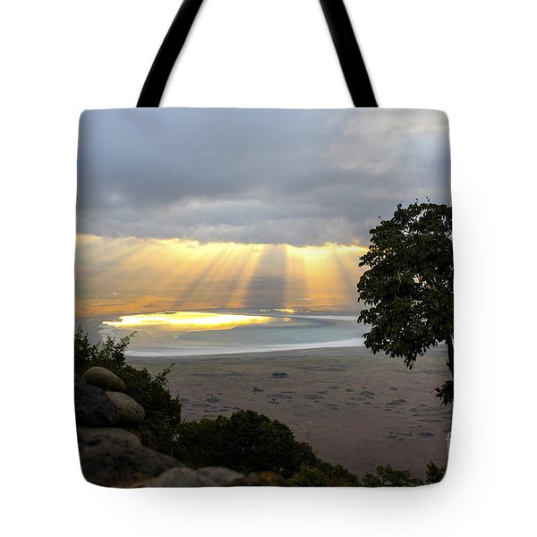 Tote Bag featuring the photograph Sun Rays by Pravine Chester