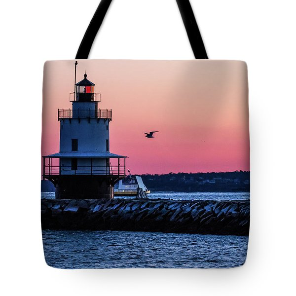Sun Rise At Spring Point Tote Bag