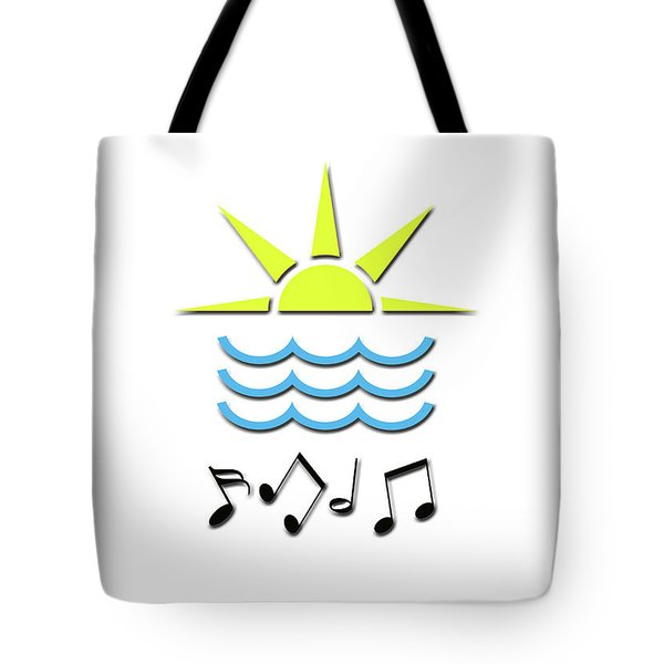Sun, Sea And Music Tote Bag by Linda Prewer
