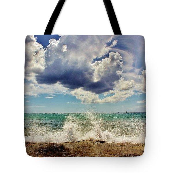 Sun, Sea And Sky Tote Bag by Craig Wood