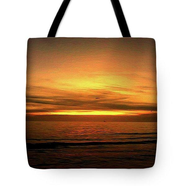 Sun Set On The Gulf Tote Bag