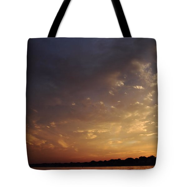 Sun Settles On Connecticut Tote Bag by Karol Livote