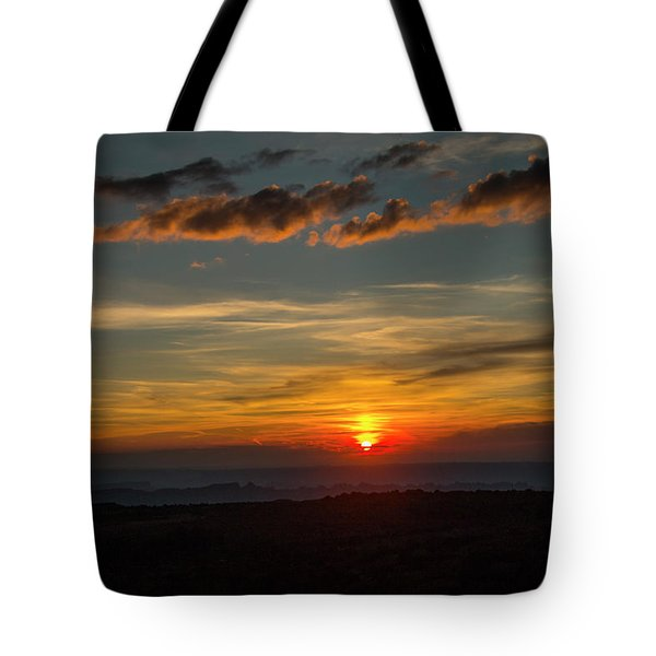 Sun Settling Into The Canyons Tote Bag
