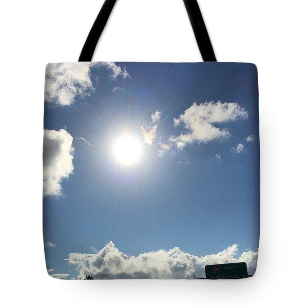 Sun Sky Angel Tote Bag