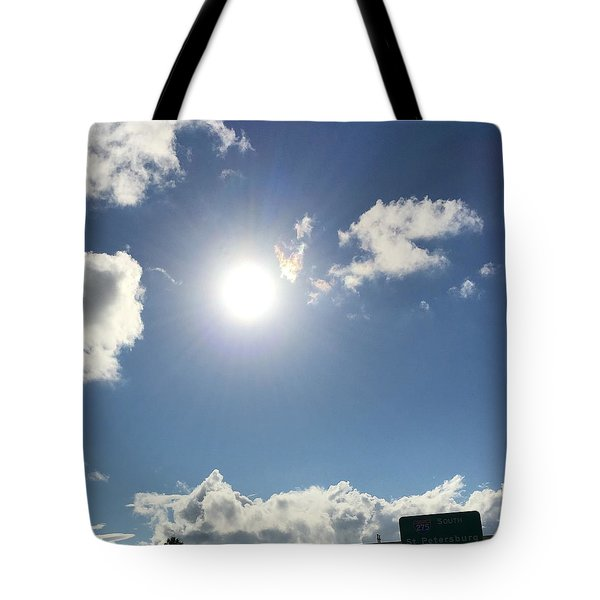 Sun Sky Angel Tote Bag