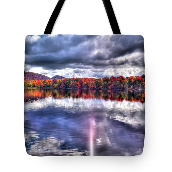 Tote Bag featuring the photograph Sun Streaks On West Lake by David Patterson