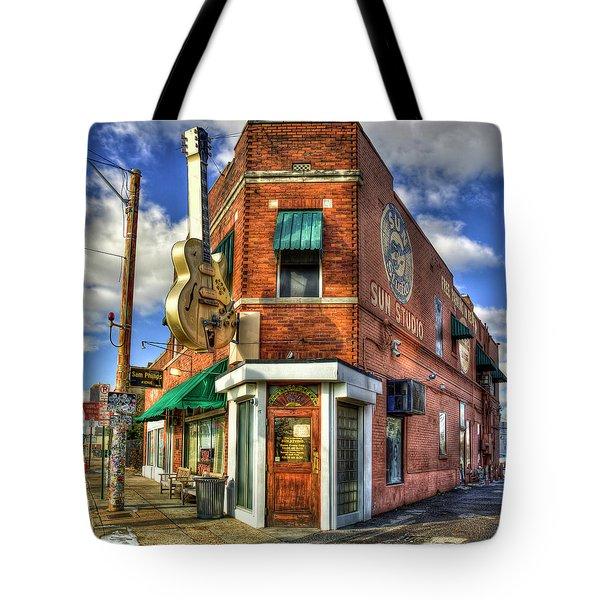 Sun Studio Rock N Roll Birthing Place Memphis Tennessee Art Tote Bag