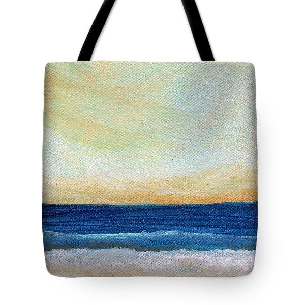 Sun Swept Coast- Abstract Seascape Tote Bag