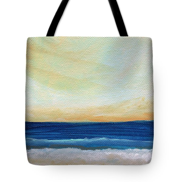 Sun Swept Coast- Abstract Seascape Tote Bag