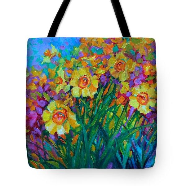 Sun Swept Daffodils Tote Bag