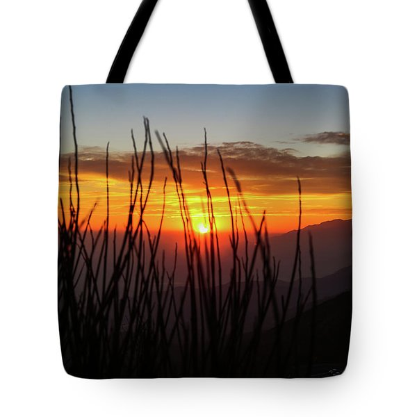 Tote Bag featuring the photograph Sun Through The Blades by T A Davies