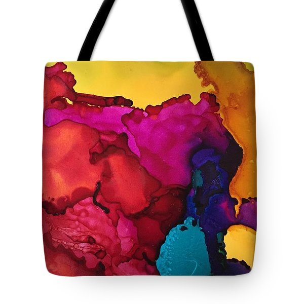 Sun Through The Boulders Tote Bag