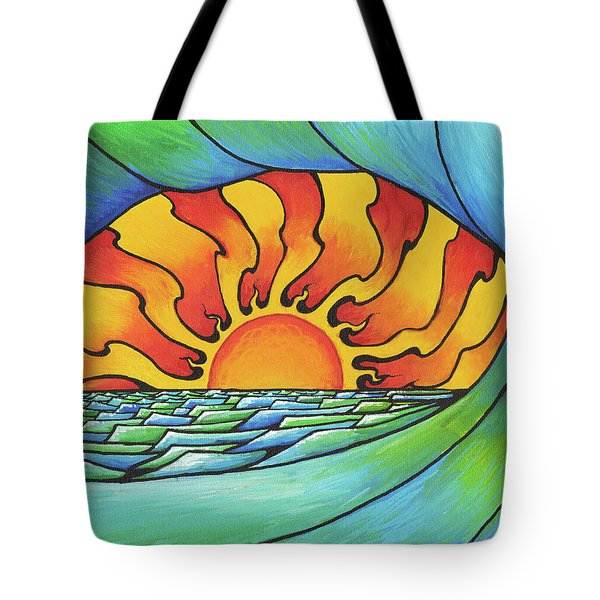 Sun Through The Curl Tote Bag
