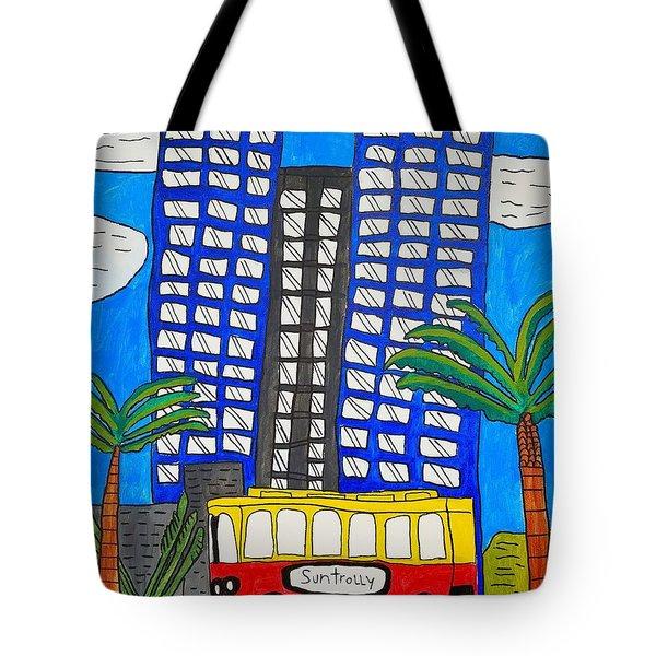 Sun Trolley Tote Bag