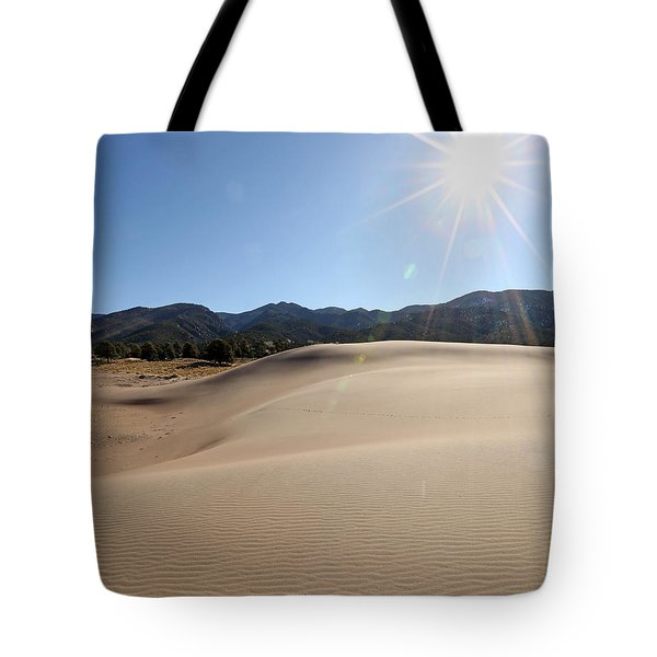 Sun Up At Great Dunes National Park Tote Bag
