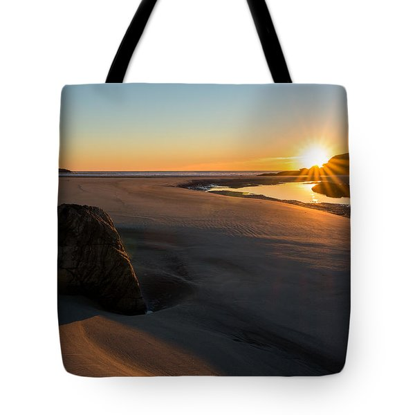 Tote Bag featuring the photograph Sun Up Good Harbor by Michael Hubley