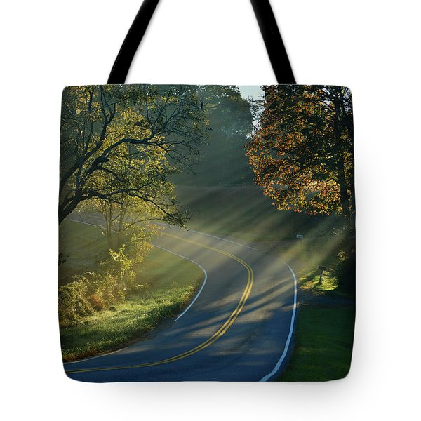 Sun-up On Conners Grove Tote Bag
