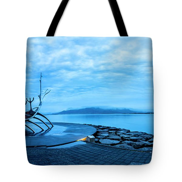 Sun Voyager Viking Ship In Iceland Tote Bag