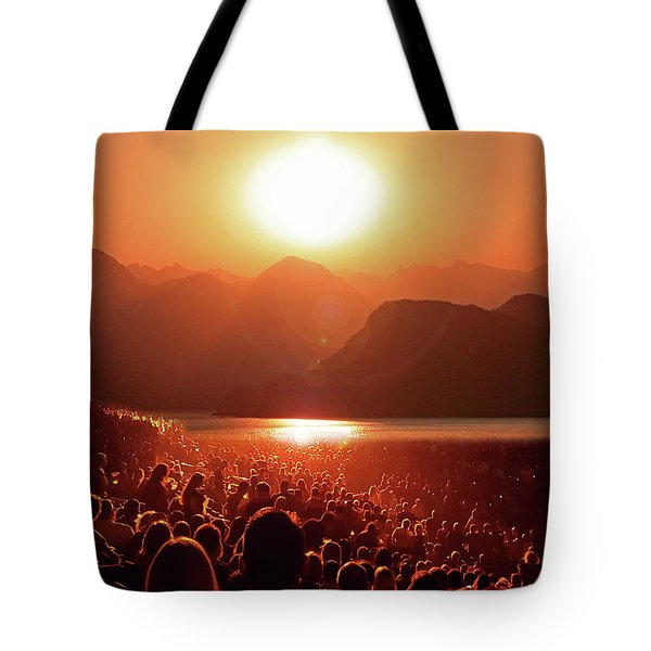 Tote Bag featuring the photograph Sun Worshipers by Christopher McKenzie