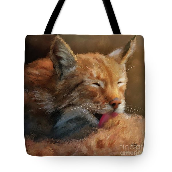 Tote Bag featuring the photograph Sunbathing by Lois Bryan