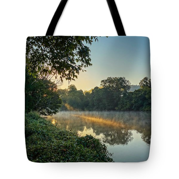 Sunbeam On Water Tote Bag