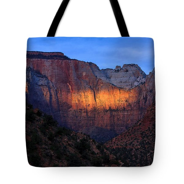 Sunbeam, Towers Of The Virgin, Zion Tote Bag