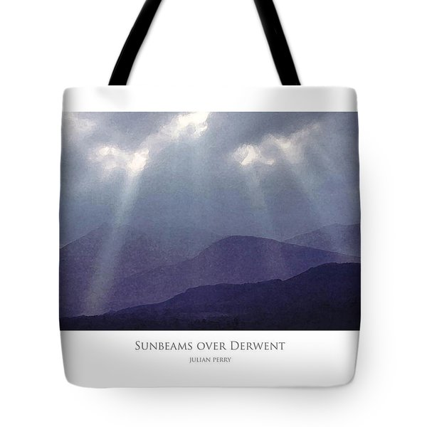 Tote Bag featuring the digital art Sunbeams Over Derwent by Julian Perry