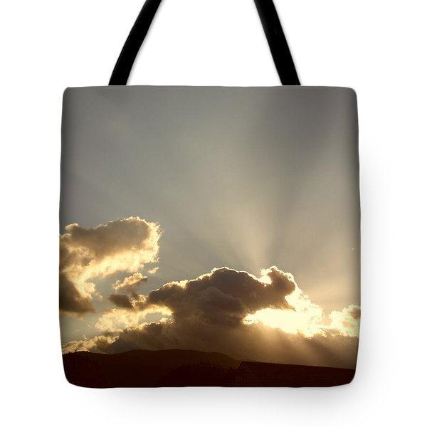 Trumpeting Triumphantly Sunrise Tote Bag