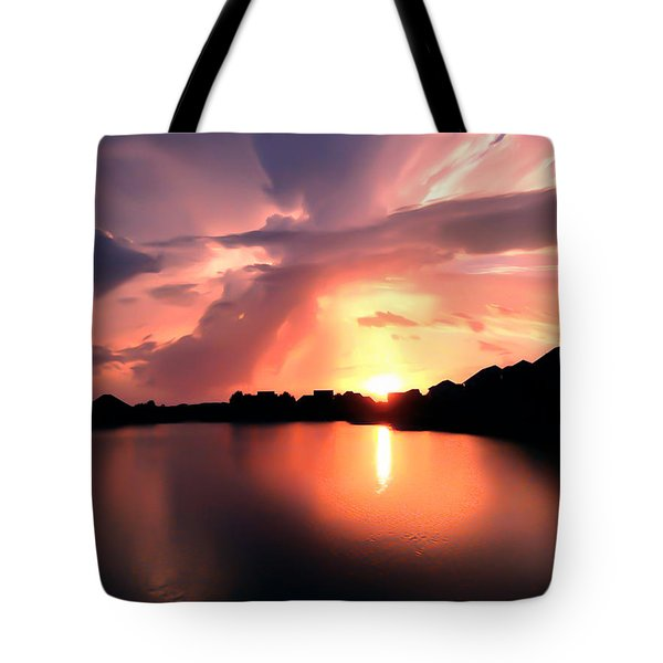 Tote Bag featuring the photograph Sunburst At Edmonds Washington by Eddie Eastwood