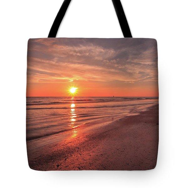 Sunburst At Sunset Tote Bag