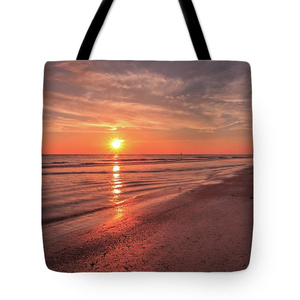 Tote Bag featuring the photograph Sunburst At Sunset by Doug Camara