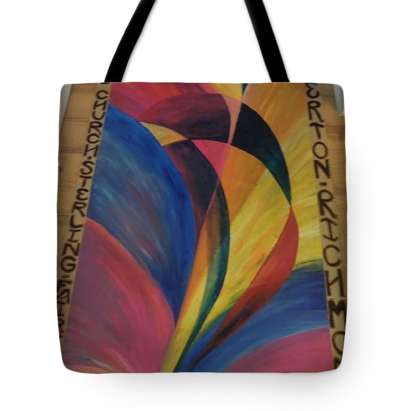 Sunburst Floorcloth Tote Bag