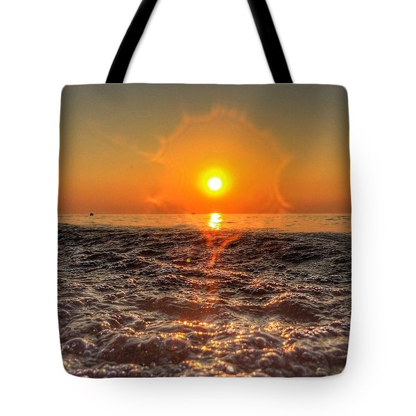 Sunburst Sundown Tote Bag