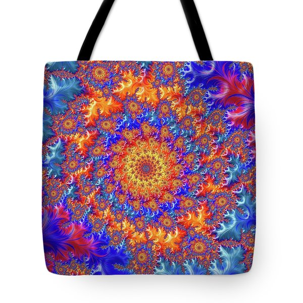 Tote Bag featuring the digital art Sunburst Supernova by Becky Herrera