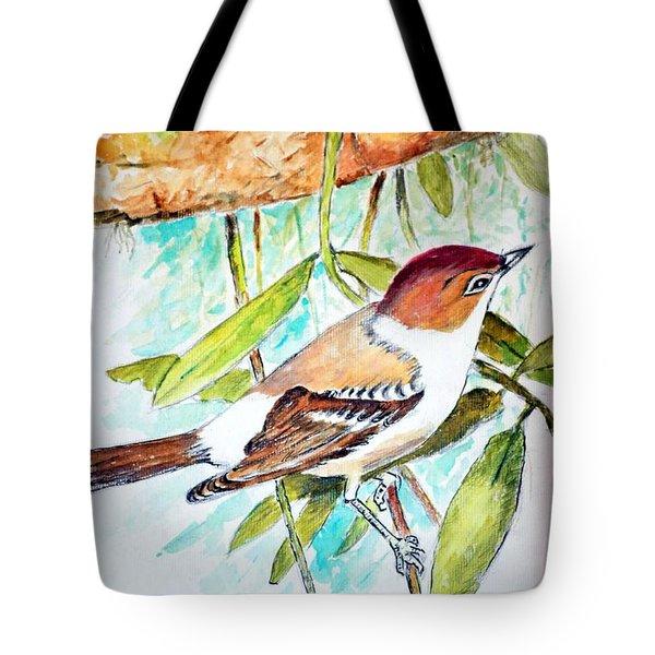 Sunda Flycatcher- Warbler Tote Bag