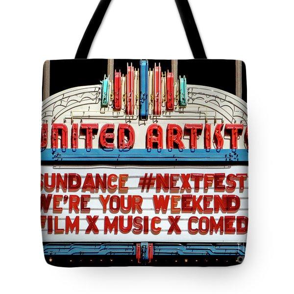 Sundance Next Fest Theatre Sign 1 Tote Bag