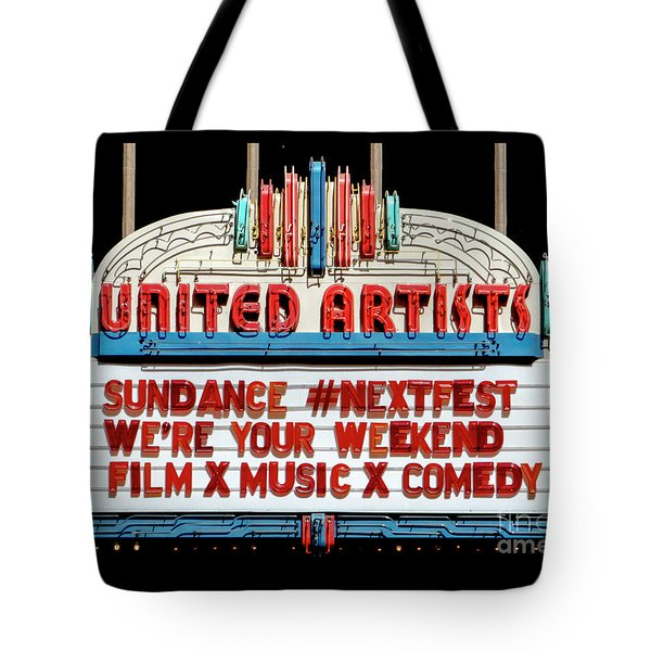 Sundance Next Fest Theatre Sign 1 Tote Bag