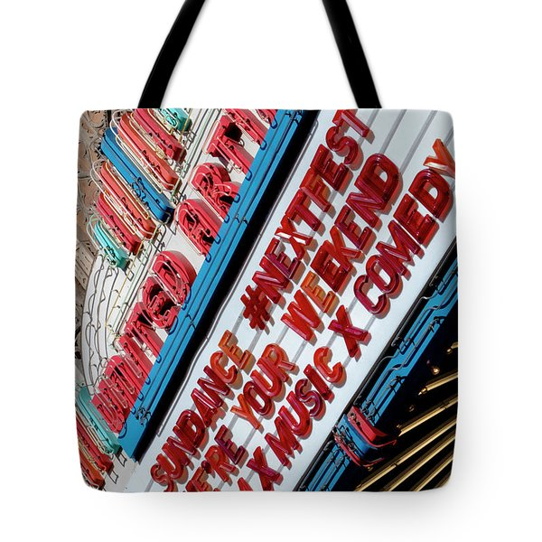 Sundance Next Fest Theatre Sign 2 Tote Bag