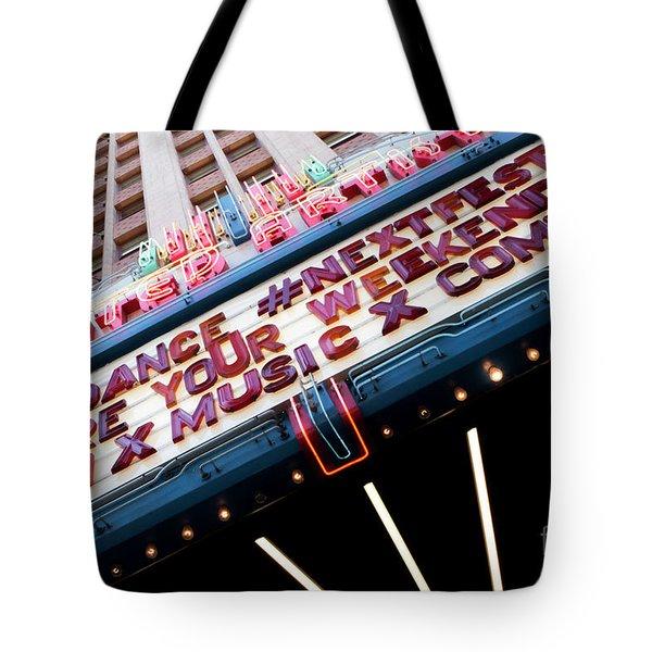 Sundance Next Fest Theatre Sign 3 Tote Bag