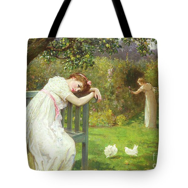 Sunday Afternoon - Ladies In A Garden Tote Bag by English School