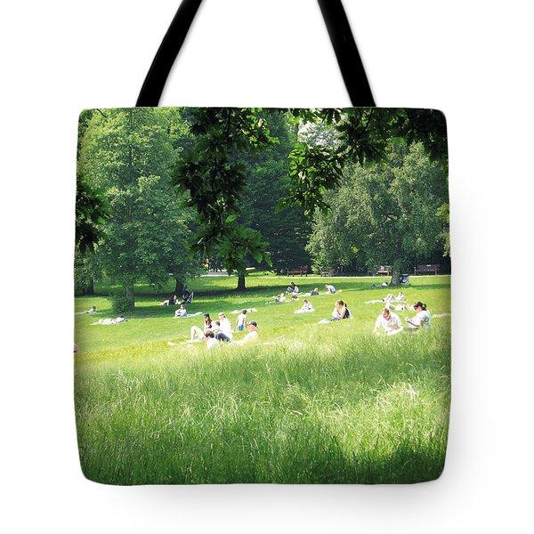 Sunday Afternoon At Waterlow Park Tote Bag by Helga Novelli