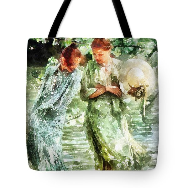 Sunday Afternoon By The Lake Tote Bag by Shirley Stalter