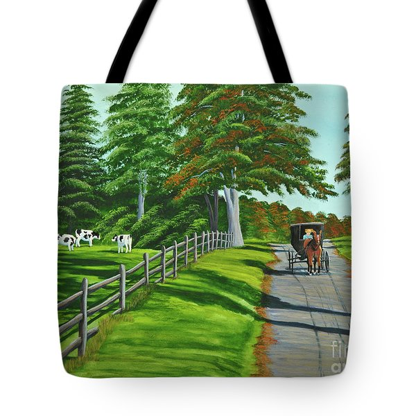 Sunday Drive Tote Bag by Charlotte Blanchard