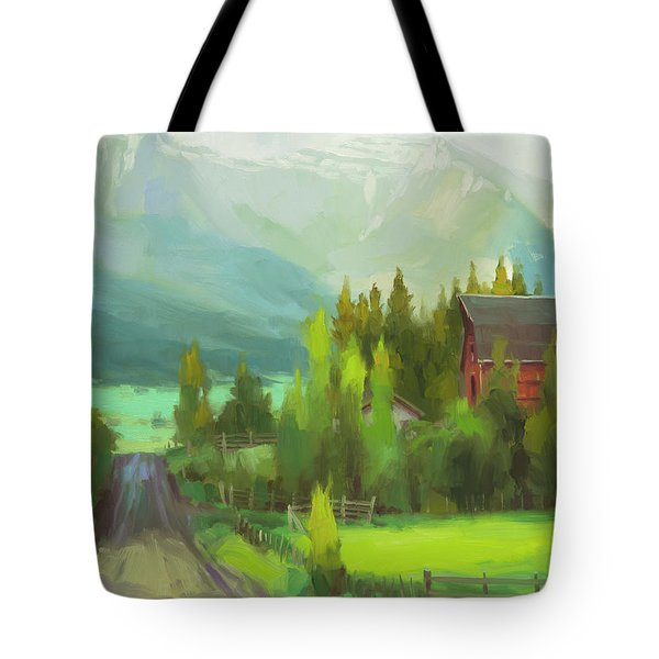 Tote Bag featuring the painting Sunday Drive by Steve Henderson