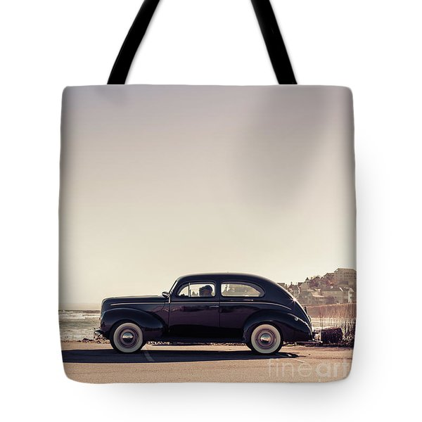 Tote Bag featuring the photograph Sunday Drive To The Beach by Edward Fielding